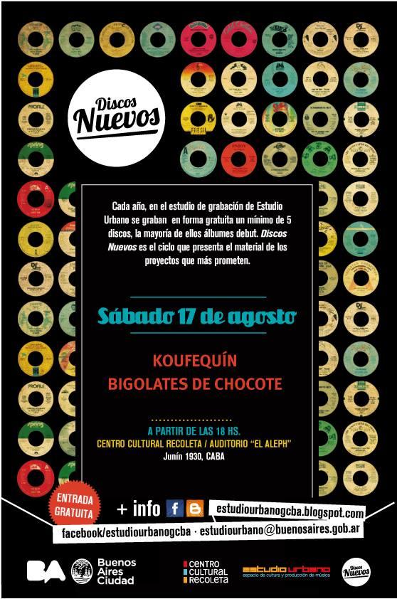 Bigolates de Chocote entrada libre y gratuita este sábado 17 de agosto a las18 hs en el Centro Cultural Recoleta